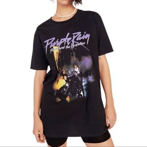 Prince Purple Rain Album Cover Graphic Tee Shirt